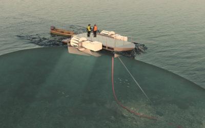 Animation of the DesignPro Renewables' hydrokinetic turbine