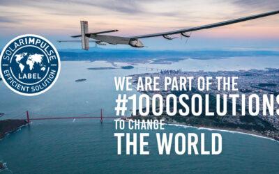 "DesignPro Renewables awarded the ""Solar Impulse Efficient Solution"" Label."